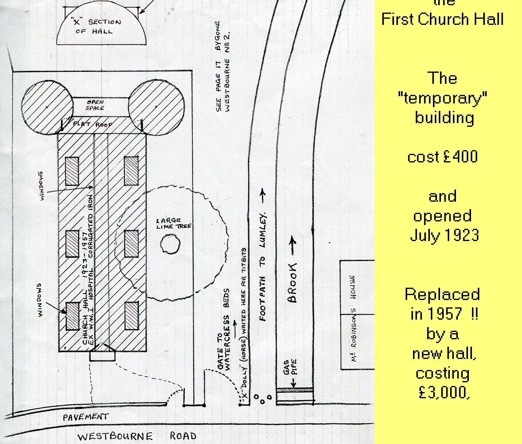 WESTBOURNE HISTORY PHOTO, CHURCH PARISH HALL HOSPITAL